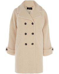 Karen Millen - Tailored Teddy Coat - Lyst