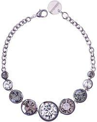 Karen Millen - Swarovski Teardrop - Silver Colour - Lyst