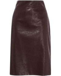Karen Millen - Faux Snakeskin Pencil Skirt - Lyst