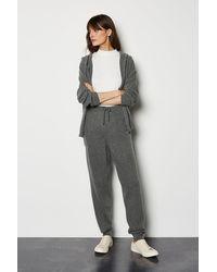 Karen Millen Cashmere Jogger Grey - Gray