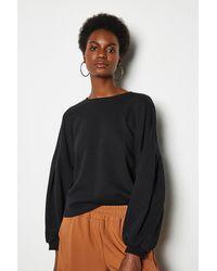 Karen Millen Tuck Detail Sweat Shirt Black