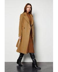 Karen Millen Belted Coat Camel - Natural