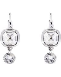 Karen Millen - Milano Stone Drop Earrings - Silver Colour - Lyst