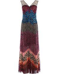 Karen Millen - Block Print Dress - Lyst