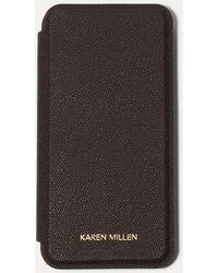 Karen Millen - Black Iphone X Folio Case - Lyst