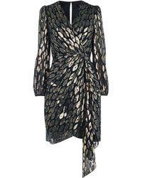 Karen Millen - Metallic Jacquard Mini Dress - Lyst