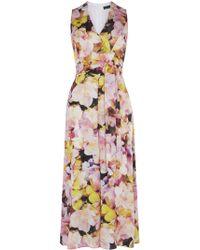 Karen Millen | Floral Jumpsuit | Lyst