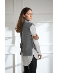 Karen Millen Tabard Knit - Grey