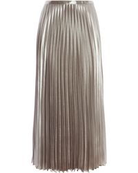 Karen Millen - Metallic Pleated Skirt - Lyst
