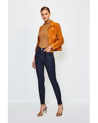 Karen Millen 5 Pocket Stretch Jean - Blue