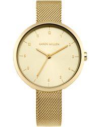 Karen Millen - Metallic Mesh Watch - Gold Colour - Lyst