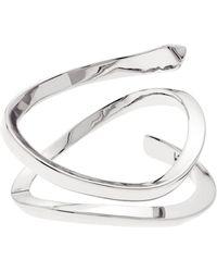Karen Millen - Wave Ring - Silver Colour - Lyst