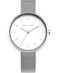 Karen Millen - Metallic Mesh Watch - Km - Lyst