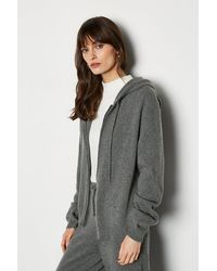 Karen Millen Cashmere Hoody Grey - Gray