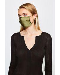 Karen Millen Fashion Silk Face Mask Covering - Green