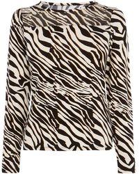 Karen Millen - Zebra Print Shirt - Lyst