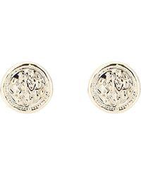 Karen Millen - Vintage Coin Stud Earring - Lyst