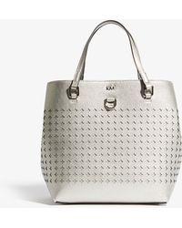 Karen Millen - Perforated Mini Tote Bag - Lyst