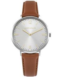 Karen Millen - Contemporary Leather Watch - Tan - Lyst