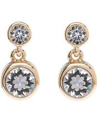 Karen Millen - Crystal Dot Drop Earring - Gold Colour - Lyst