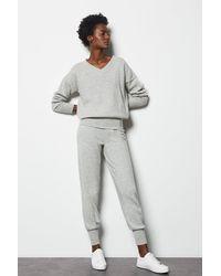 Karen Millen Essential Cashmere Mix Jogger Grey - Gray