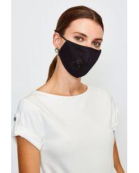 Karen Millen Filtered Fashion Face Mask - Black
