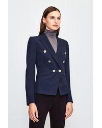Karen Millen - Tailored Button Military Blazer - Lyst