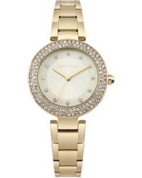 Karen Millen - Crystal Embellished Watch - Gold Colour - Lyst