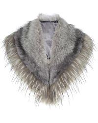 Karen Millen - Faux Fur Stole - Neutral - Lyst