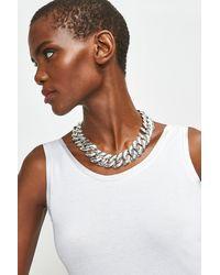 Karen Millen Plated Chunky Necklace - Metallic