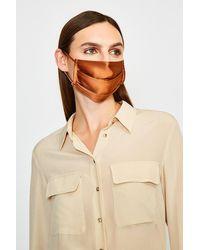 Karen Millen Fashion Silk Face Mask Covering - Orange