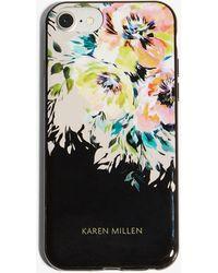 Karen Millen - Floral Iphone Case - Lyst