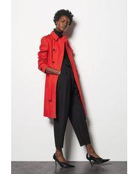 Karen Millen - Trench Coat Red - Lyst