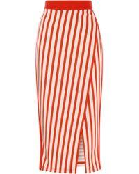 Karen Millen - Stripe Jersey Pencil Skirt - Lyst