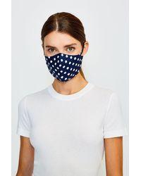 Karen Millen Reuseable Fashion Print Face Mask With Filter - Blue