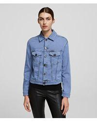 Karl Lagerfeld Colour-blocked Denim Jacket - Blue