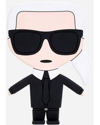 Karl Lagerfeld K/ikonik Phone Stand - Black