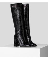 Karl Lagerfeld Metro Exotik High Boot - Black