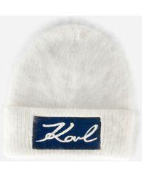 Karl Lagerfeld - K/signature Beanie - Lyst