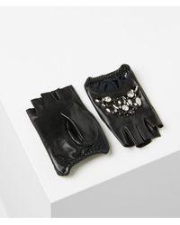 Karl Lagerfeld Mixed Geostones Glove - Black