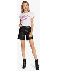 Karl Lagerfeld - Leather & Suede Shorts - Lyst