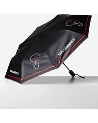 Karl Lagerfeld K/ikonik Graphic Umbrella - Black