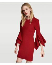 Karl Lagerfeld - Fitted Dress W/ Ruffled Cuffs - Lyst