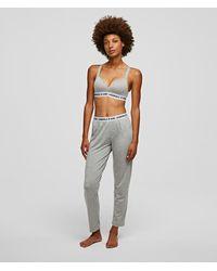 Karl Lagerfeld Logo Pyjama Bottoms - Grey