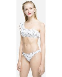 Karl Lagerfeld K/signature Ruffle Bandeau Top - White