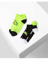 Karl Lagerfeld Rue St-guillaume Socks 2-pack - Green