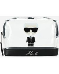 Karl Lagerfeld K/ikonik Logo Transparent Pouch - Multicolor