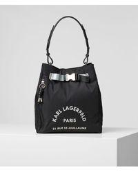 Karl Lagerfeld Rue St-guillaume Medium Hobo - Black