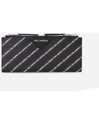 Karl Lagerfeld - K/stripe Logo Fold Wallet - Lyst