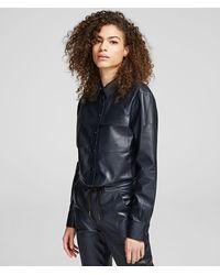 Karl Lagerfeld Leather Shirt - Black